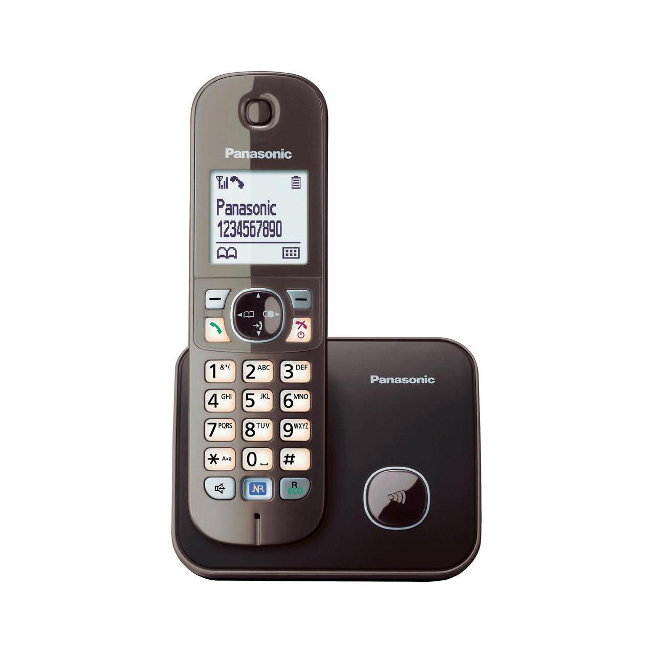 گوشی تلفن بیسیم پاناسونیک مدل KX-TG6811 قهوه ای
