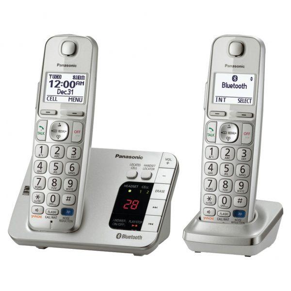 گوشی تلفن بیسیم پاناسونیک مدل Panasonic-KX-TGE262 ساخت مالزی | سفید