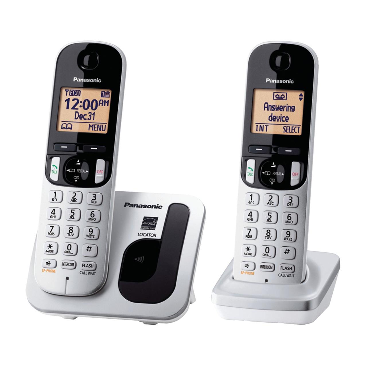 گوشی تلفن بیسیم پاناسونیک مدل Panasonic-KX-TGD212 | نقره ای