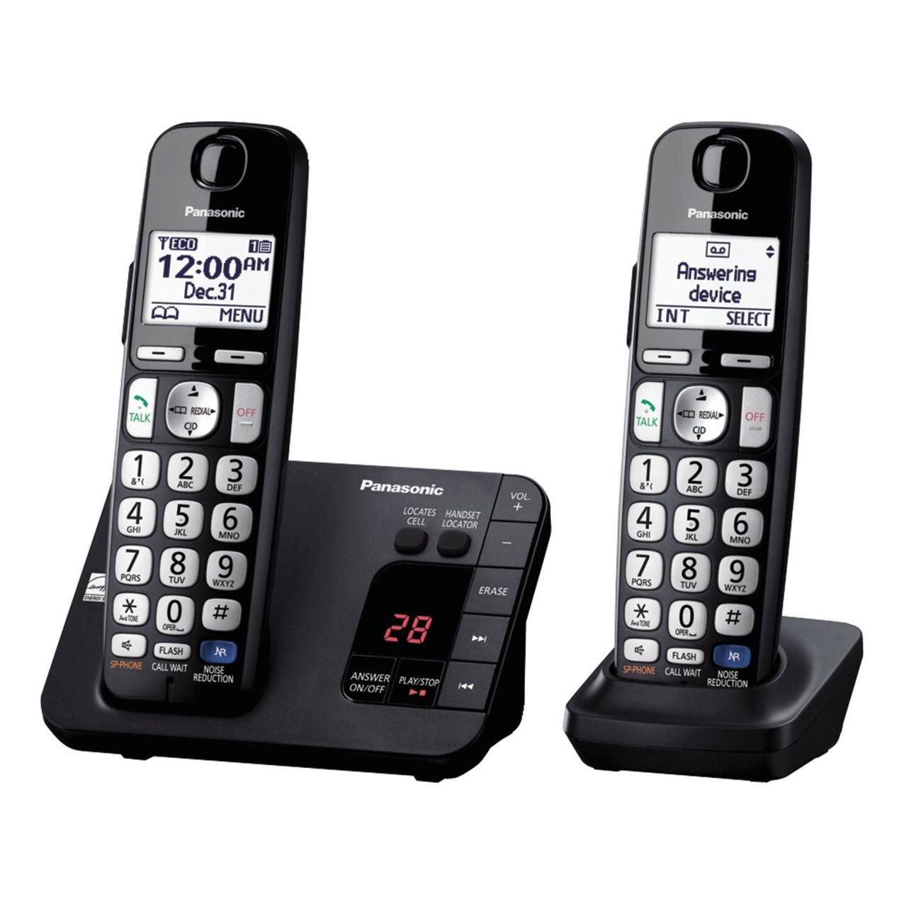 گوشی تلفن بیسیم پاناسونیک مدل Panasonic-KX-TGE262 ساخت مالزی| مشکی