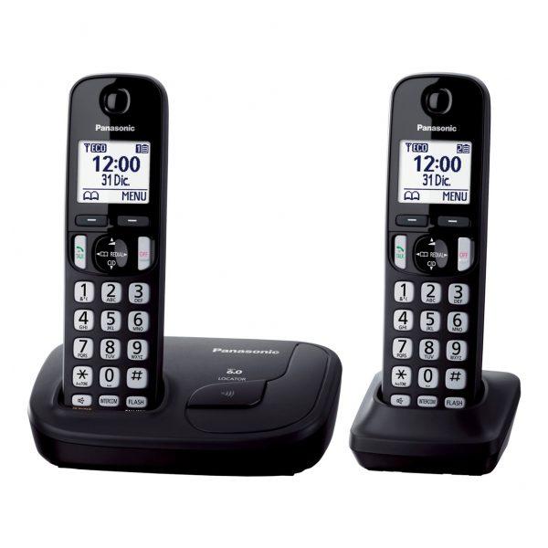 گوشی تلفن بیسیم پاناسونیک مدل Panasonic-KX-TGD212 | مشکی