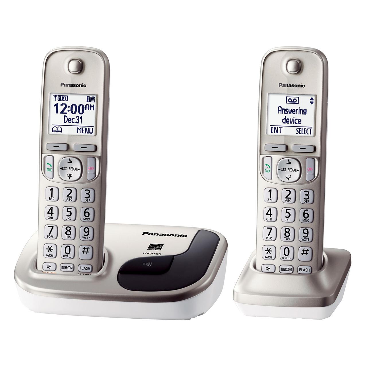 گوشی تلفن بیسیم پاناسونیک مدل Panasonic-KX-TGD212 | بژ
