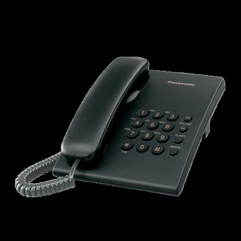 گوشی تلفن رومیزی پاناسونیک مدل Panasonic KX-TS500MX | مشکی