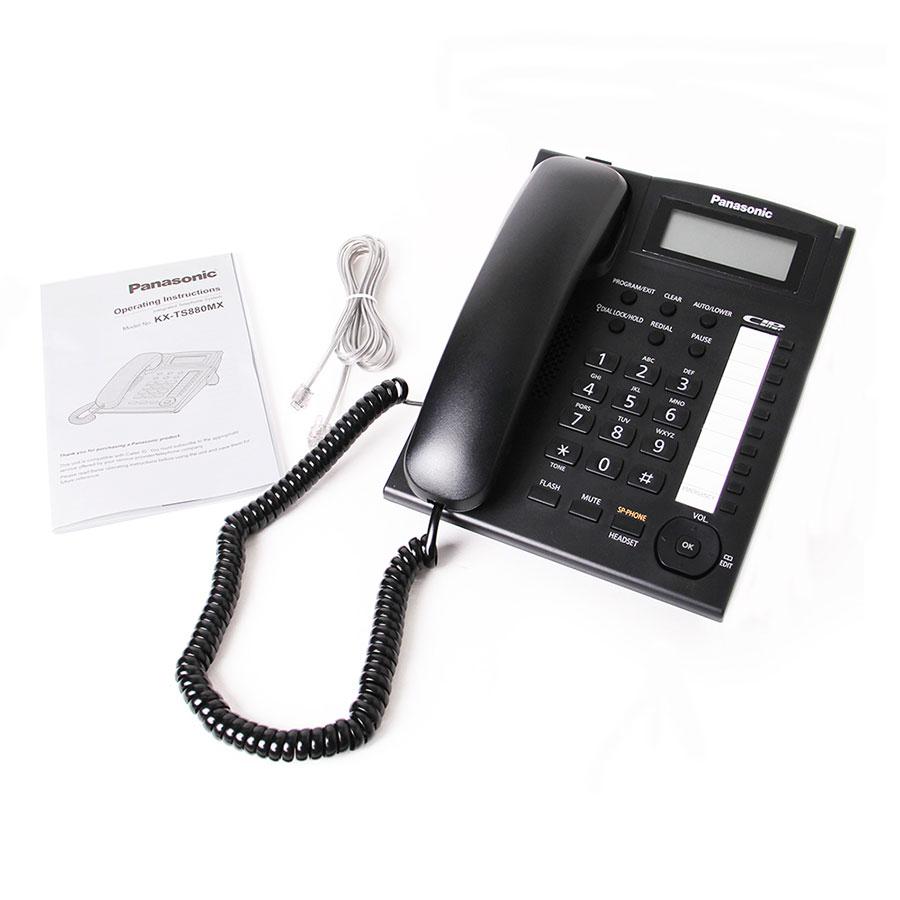 گوشی تلفن رومیزی پاناسونیک Panasonic KX-TS880MX | کاتالوگ