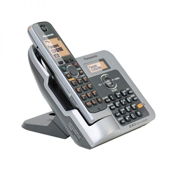 گوشی تلفن بیسیم پاناسونیک مدل Panasonic-KX-TG3811BX | نقره ای