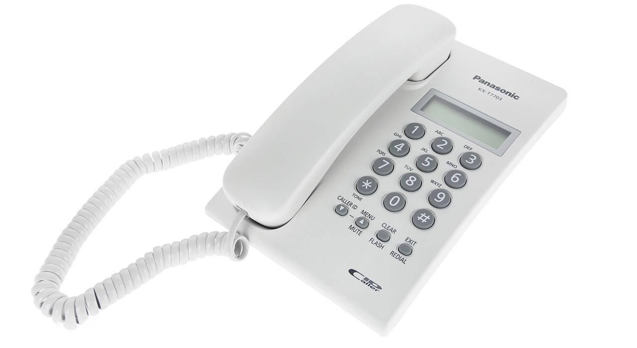 گوشی تلفن رومیزی پاناسونیک مدل Panasonic-KX-T7703X