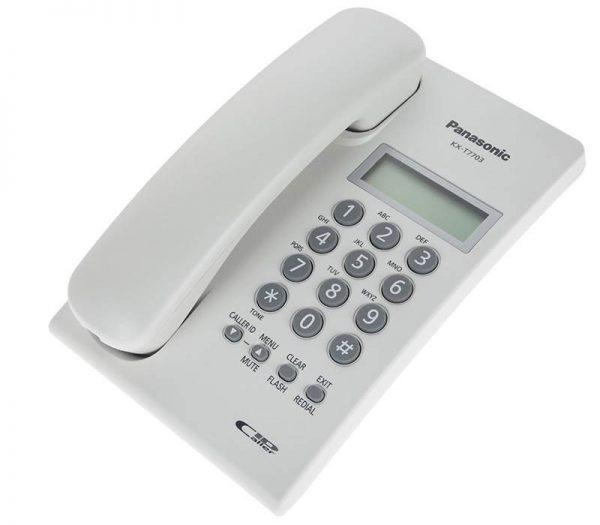 گوشی تلفن رومیزی پاناسونیک مدل Panasonic-KX-T7703X | سفید