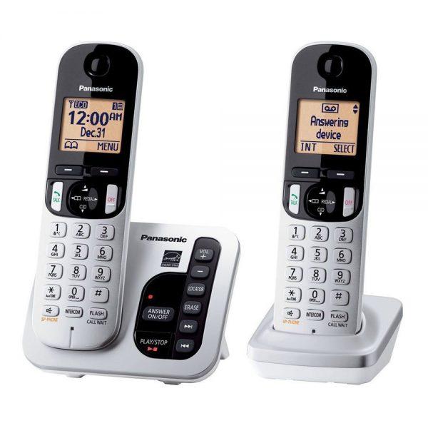 گوشی تلفن بیسیم پاناسونیک مدل Panasonic-KX-TGC222 سفید