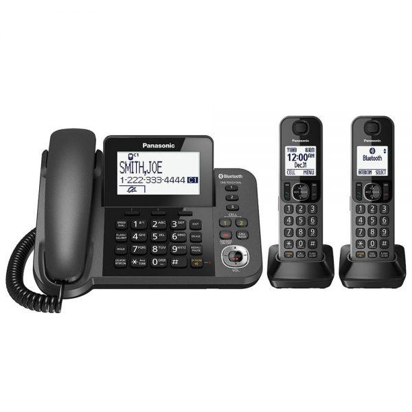 گوشی تلفن بیسیم پاناسونیک مدل Panasonic-KX-TGF322JX ساخت ژاپن | دو عدد گوشی بی سیم