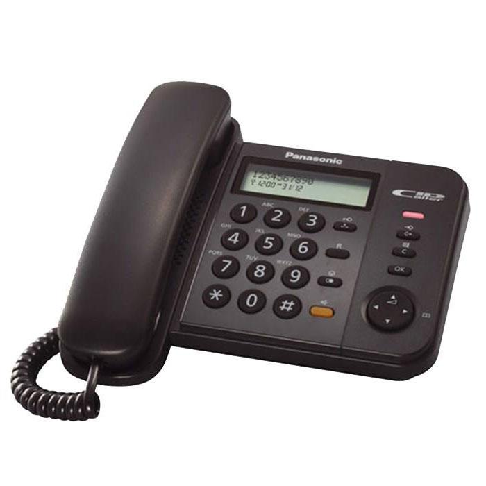 گوشی تلفن رومیزی پاناسونیک مدل Panasonic-KX-TS580MX | زرشکی