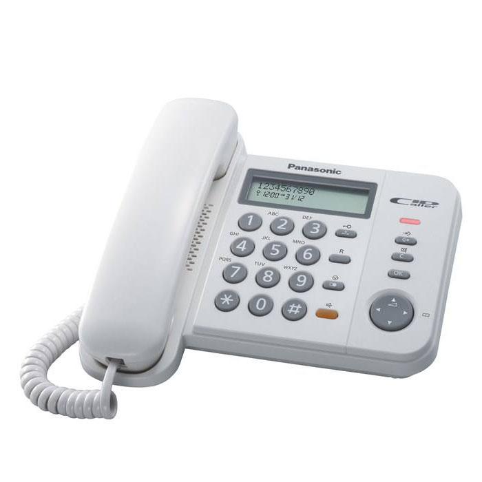 گوشی تلفن رومیزی پاناسونیک مدل Panasonic-KX-TS580MX | سفید