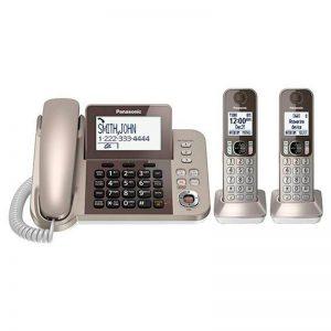 گوشی تلفن بیسیم پاناسونیک مدل Panasonic-KX-TGF352 | بژ