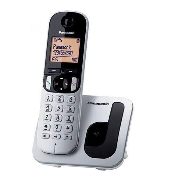 گوشی تلفن بیسیم پاناسونیک مدل Panasonic-KX-TGC210 | نقره ای