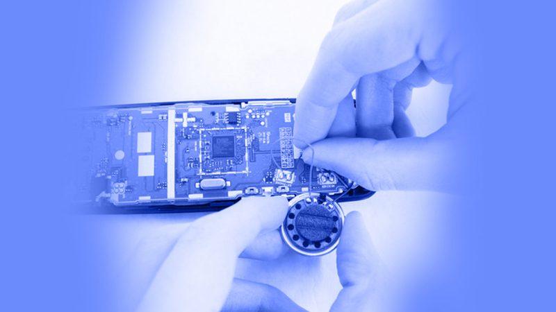 تعمیر تلفن - برداشتن و جایگزین کردن بلندگوی پشت گوشی تلفن