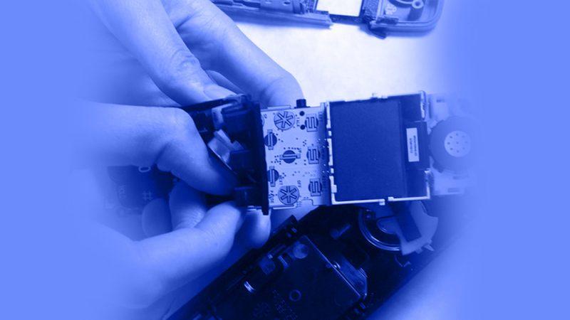 تعمیر تلفن - برداشتن و جایگزین کردن صفحه کلید تلفن بیسیم پاناسونیک