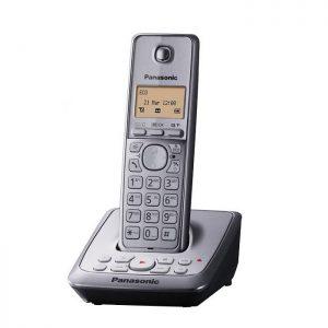 گوشی تلفن بیسیم پاناسونیک مدل Panasonic-KX-TG2721 رنگ نقره ای