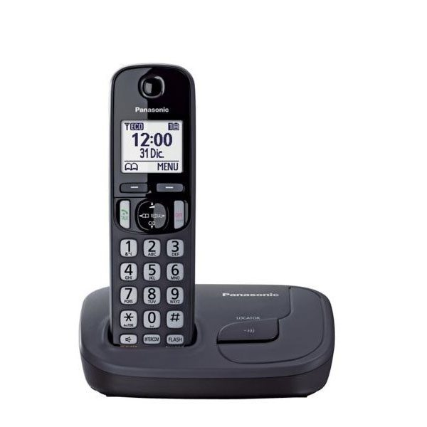 گوشی تلفن بیسیم پاناسونیک مدل Panasonic-KX-TGD210 | مشکی