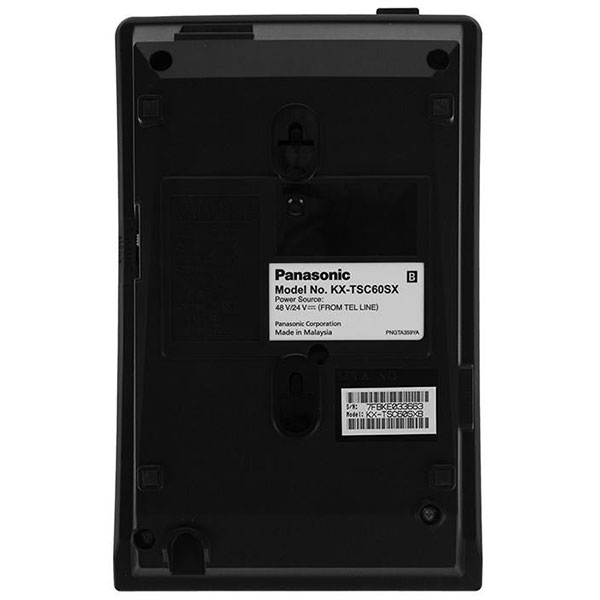 گوشی تلفن رومیزی پاناسونیک مدل Panasonic-KX-TSC60 | برچسب تلفن