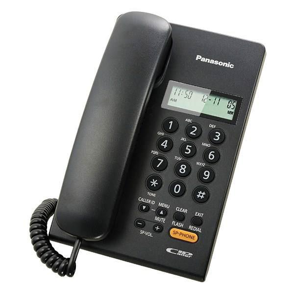 گوشی تلفن رومیزی پاناسونیک مدل Panasonic-KX-TSC62 | مشکی